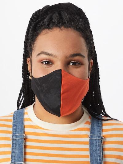 Grubenhelden Stoffmasken 'Colourblock' in orange / schwarz: Frontalansicht