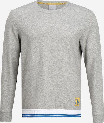 Calvin Klein Underwear Duga pidžama u plava / žuta / siva melange / bijela, Pregled proizvoda