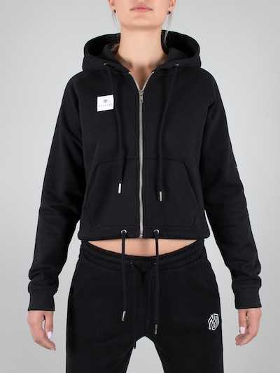 MOROTAI Sporta jaka ar kapuci ' Box Full Zip Hoodie ' pieejami melns: Priekšējais skats