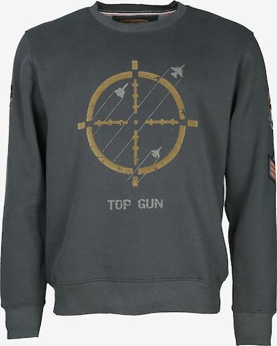 TOP GUN Sweatshirt 'TG-9011' in de kleur Goudgeel / Lichtgroen / Donkergroen, Productweergave
