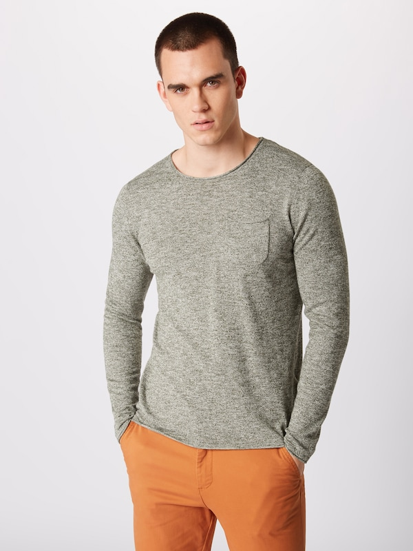 JACK & JONES Pullover 'Attend' in khaki: Frontalansicht