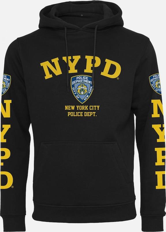 Mister Tee Hoody 'NYPD Logo' in blau   gelb   schwarz  Markenkleidung für Männer und Frauen