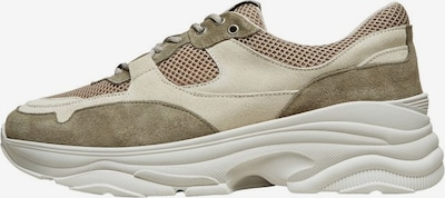 SELECTED HOMME Sneakers in beige / oliv, Produktansicht