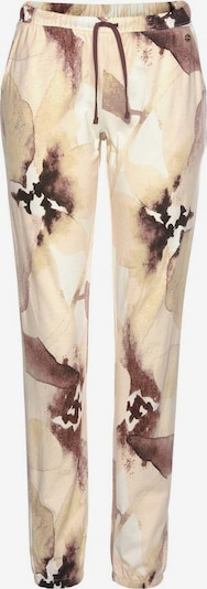 LASCANA Pyjamahose in beige / braun, Produktansicht
