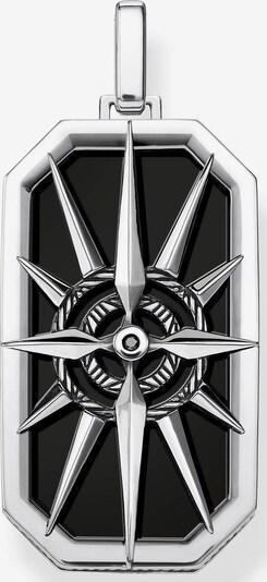 Thomas Sabo Kettenanhänger 'Kompass Stern schwarz' in silber, Produktansicht