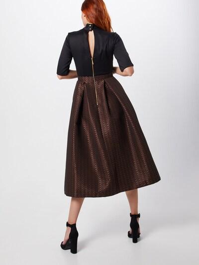Closet London Kleita 'Skirt' pieejami zeltaini dzeltens / rožkrāsas: Aizmugures skats