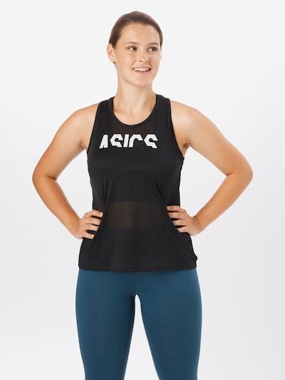 ASICS Sporttop in schwarz / weiß: Frontalansicht