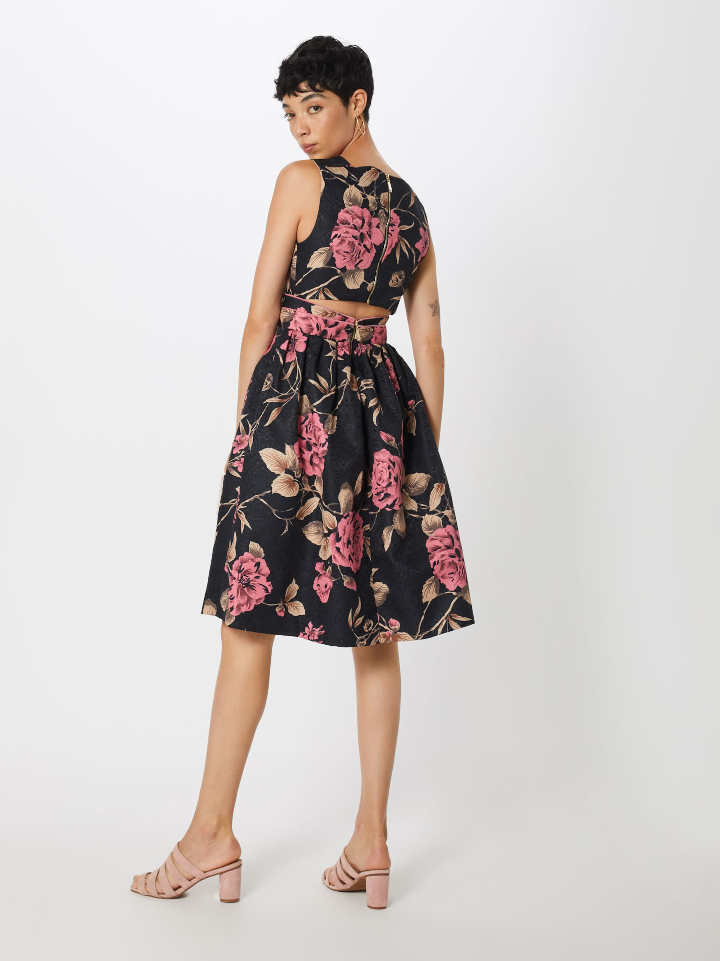 'midikleid Print' Four Kleid NachtblauPink In Flavor 0nO8XPkw