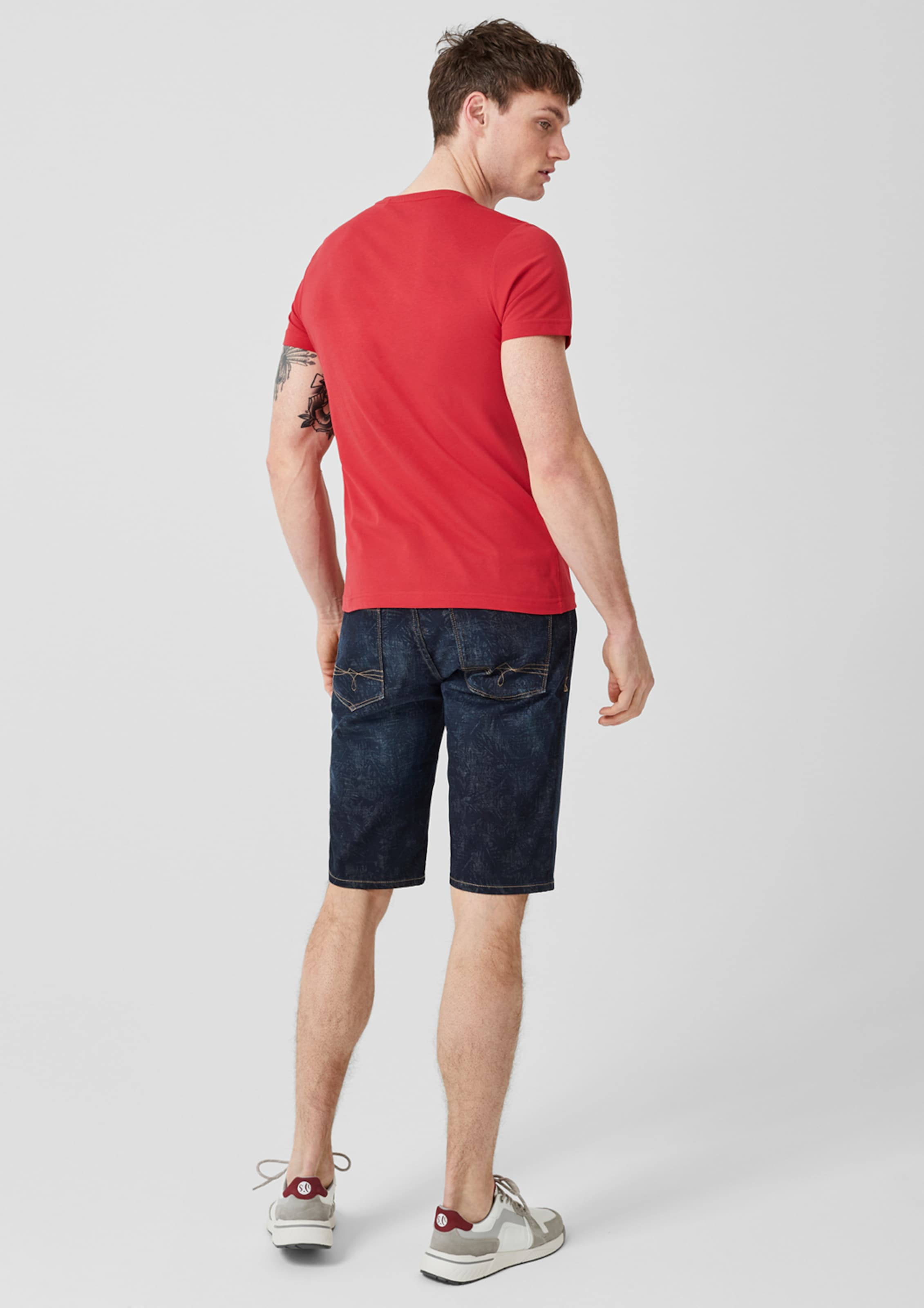 Red Label shirt T BlauRot oliver S In mn08vNw