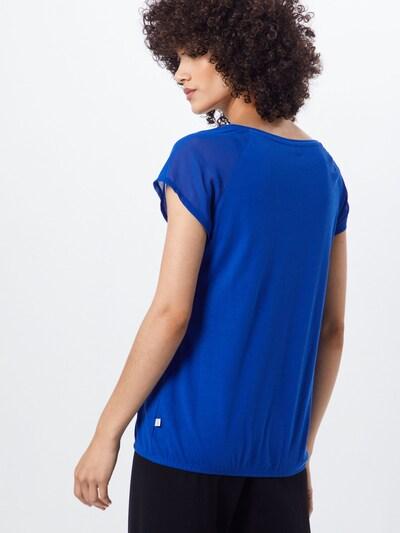 Q/S designed by Shirt in de kleur Royal blue/koningsblauw: Achteraanzicht