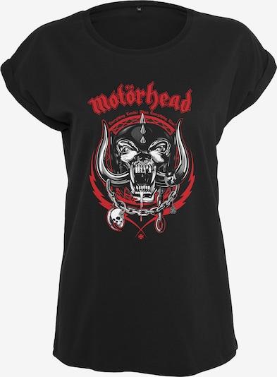 Merchcode T-Shirt 'Motörhead Razor' in grau / dunkelgrau / rot / schwarz / weiß, Produktansicht