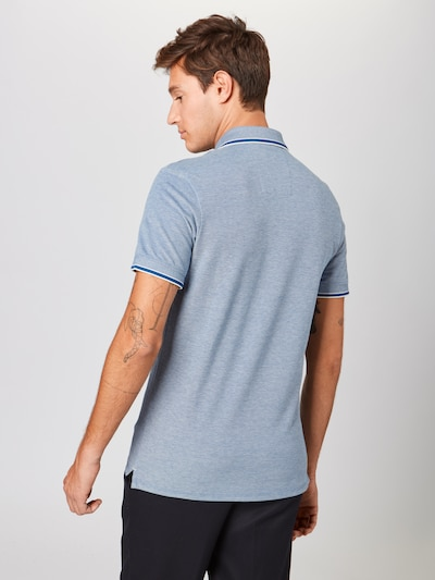 SELECTED HOMME T-Shirt 'Twist' en bleu clair / blanc: Vue de dos