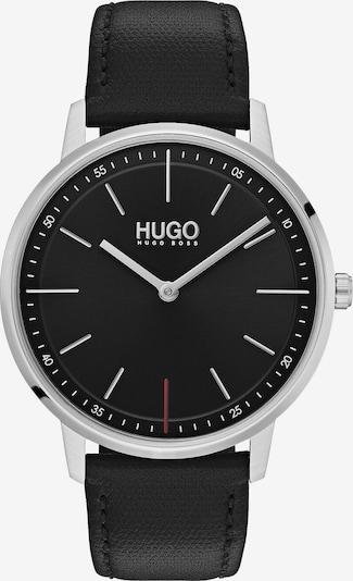 HUGO Uhr 'Exist Business' in schwarz / silber, Produktansicht