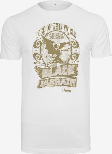 Mister Tee T-Shirt 'Black Sabbath' in gold / weiß, Produktansicht