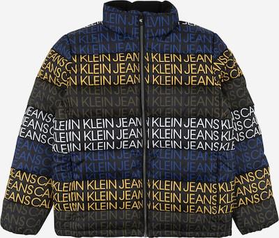 Calvin Klein Jeans Jacke in dunkelblau / gelb / schwarz, Produktansicht
