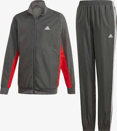 ADIDAS PERFORMANCE Trainingsanzug 'YB WOVEN TS' in grau / rot, Produktansicht
