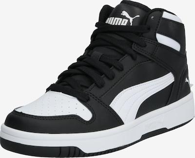 PUMA Sport-Schuhe 'Puma Rebound Layup SL Jr' in schwarz / weiß, Produktansicht