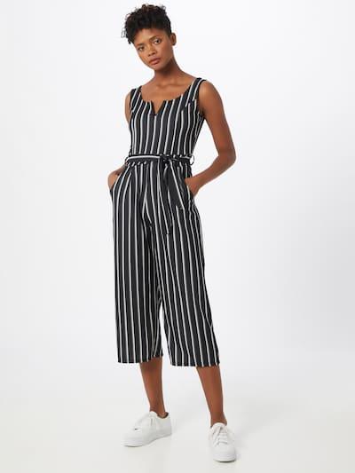 Hailys Overall 'Naddy' in schwarz / weiß, Modelansicht