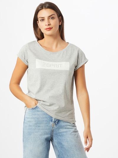 ESPRIT Koszulka 'Noos' w kolorze szary / białym: Widok z przodu