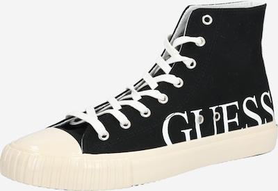 GUESS Trampki wysokie 'NEW WINNERS' w kolorze czarny / białym, Podgląd produktu