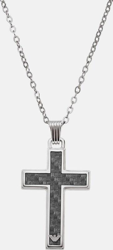 Emporio Armani Kette mit Anhänger 'Kreuz, EGS1705040'
