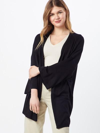 ICHI Strickjacke in schwarz, Modelansicht