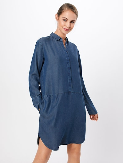 OPUS Jeanskleid in blue denim: Frontalansicht