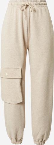 Pantalon cargo NU-IN en beige