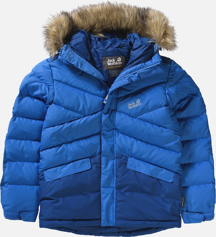jack wolfskin daunenjacke 39 icefjord 39 f r jungen in blau about you. Black Bedroom Furniture Sets. Home Design Ideas