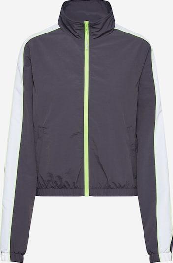 Urban Classics Jacke in anthrazit / neongrün / weiß, Produktansicht