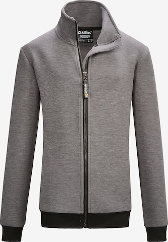 KILLTEC Knit Cardigan 'Bantry' in Grey
