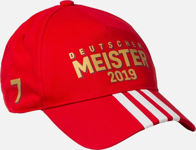 ADIDAS PERFORMANCE Cap 'FC Bayern München M19' in rot: Frontalansicht