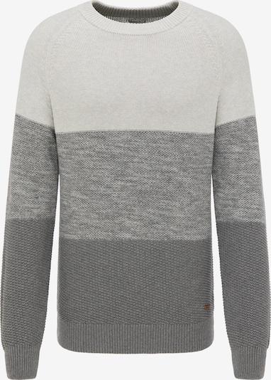 MUSTANG Pullover ' Emil C Striped ' in beige / grau / dunkelgrau, Produktansicht