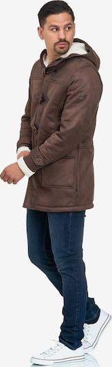 INDICODE JEANS Winterjas 'Calshot' in de kleur Oker, Productweergave