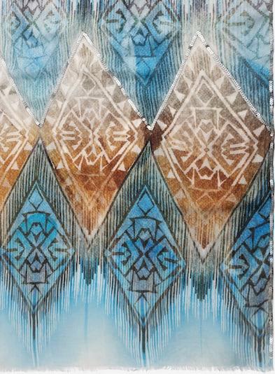APART Schal mit Pailletten in türkis / hellbraun, Produktansicht