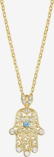 AMOR Kette 'Hand der Fatima' in aqua / gold, Produktansicht