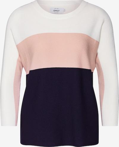 ONLY Pullover 'Regitze' in blau / rosa / weiß, Produktansicht