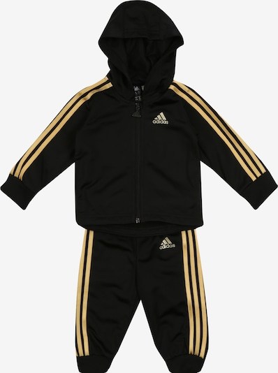 ADIDAS PERFORMANCE Jogginganzug 'SHINY' in goldgelb / schwarz, Produktansicht