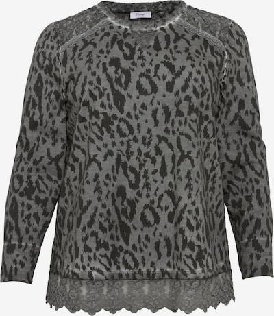 SHEEGO Sweatshirt in dunkelgrau / schwarz, Produktansicht
