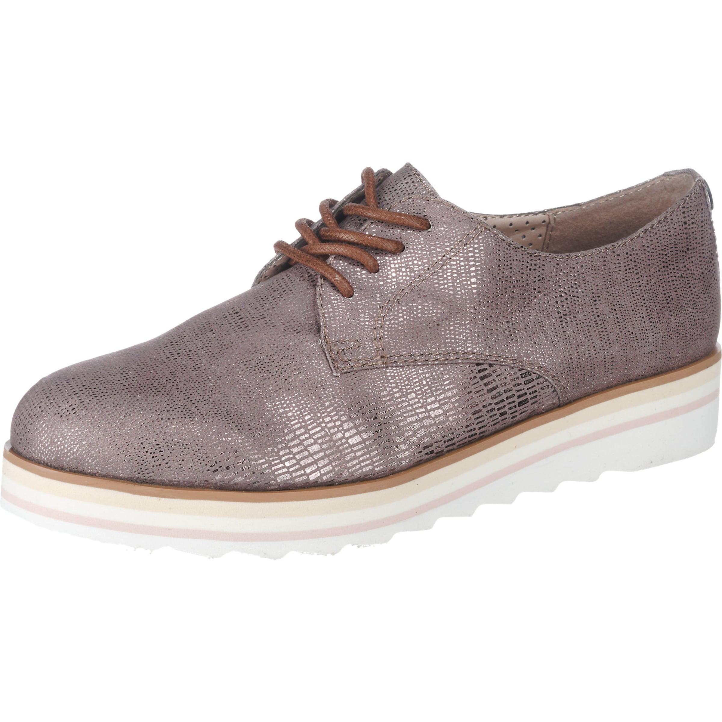 TOM TAILOR Schnürschuh Glitter Verschleißfeste billige Schuhe