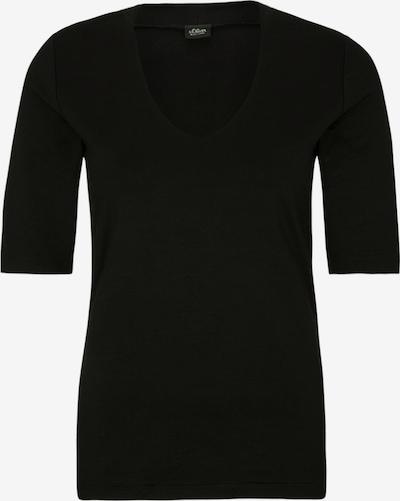 s.Oliver BLACK LABEL T-Shirt in schwarz, Produktansicht