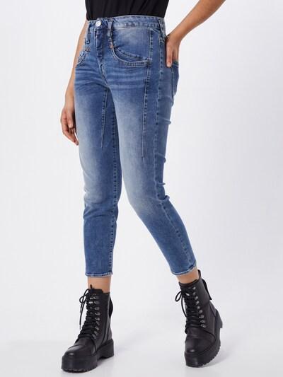 Herrlicher Jeans 'Touch Cropped Denim Powerstretch' in de kleur Grey denim, Modelweergave
