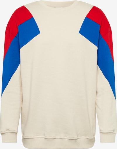 Urban Classics Sweatshirt in beige / blau / feuerrot, Produktansicht