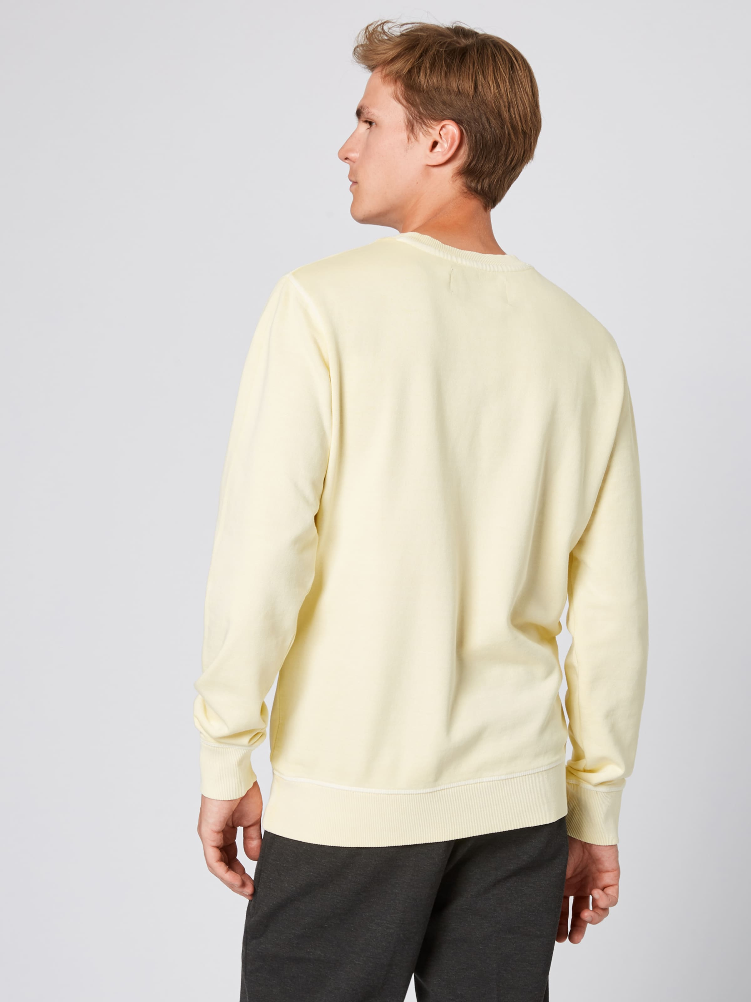 In Sweatshirt Calvin Pastellgelb Klein Jeans rxdtCshQ