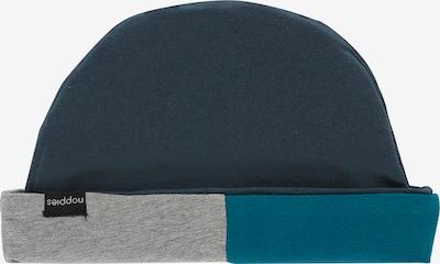 Noppies Bonnet 'Alderwood' en bleu nuit / bleu ciel / gris chiné: Vue de face