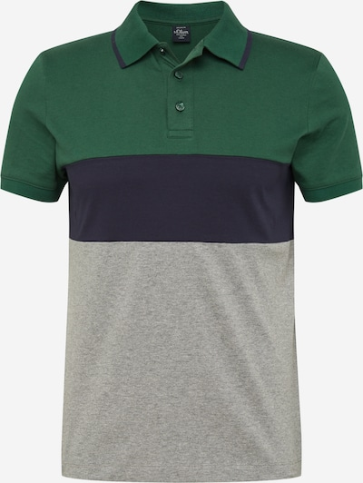 s.Oliver Poloshirt in marine / graumeliert / grün, Produktansicht