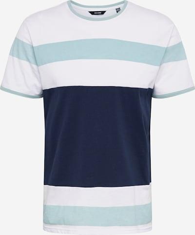 Only & Sons Shirt 'ONSNUGGET' in de kleur Turquoise / Donkerblauw / Wit: Vooraanzicht