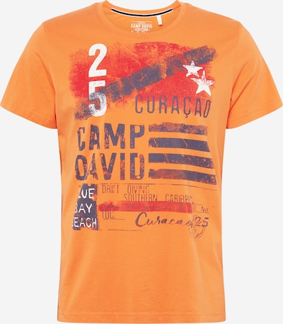 CAMP DAVID T-Shirt in dunkelblau / orange, Produktansicht