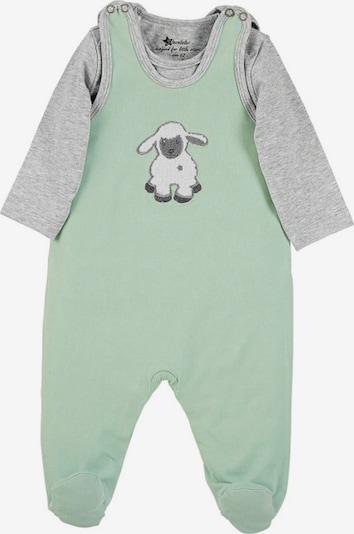 STERNTALER Prádlo-souprava 'Stanley' - grafitová / šedý melír / světle zelená / barva bílé vlny, Produkt