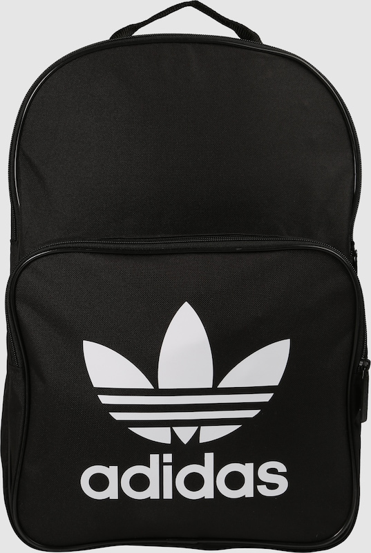 adidas originals rucksack 39 classic trefoil 39 in schwarz. Black Bedroom Furniture Sets. Home Design Ideas
